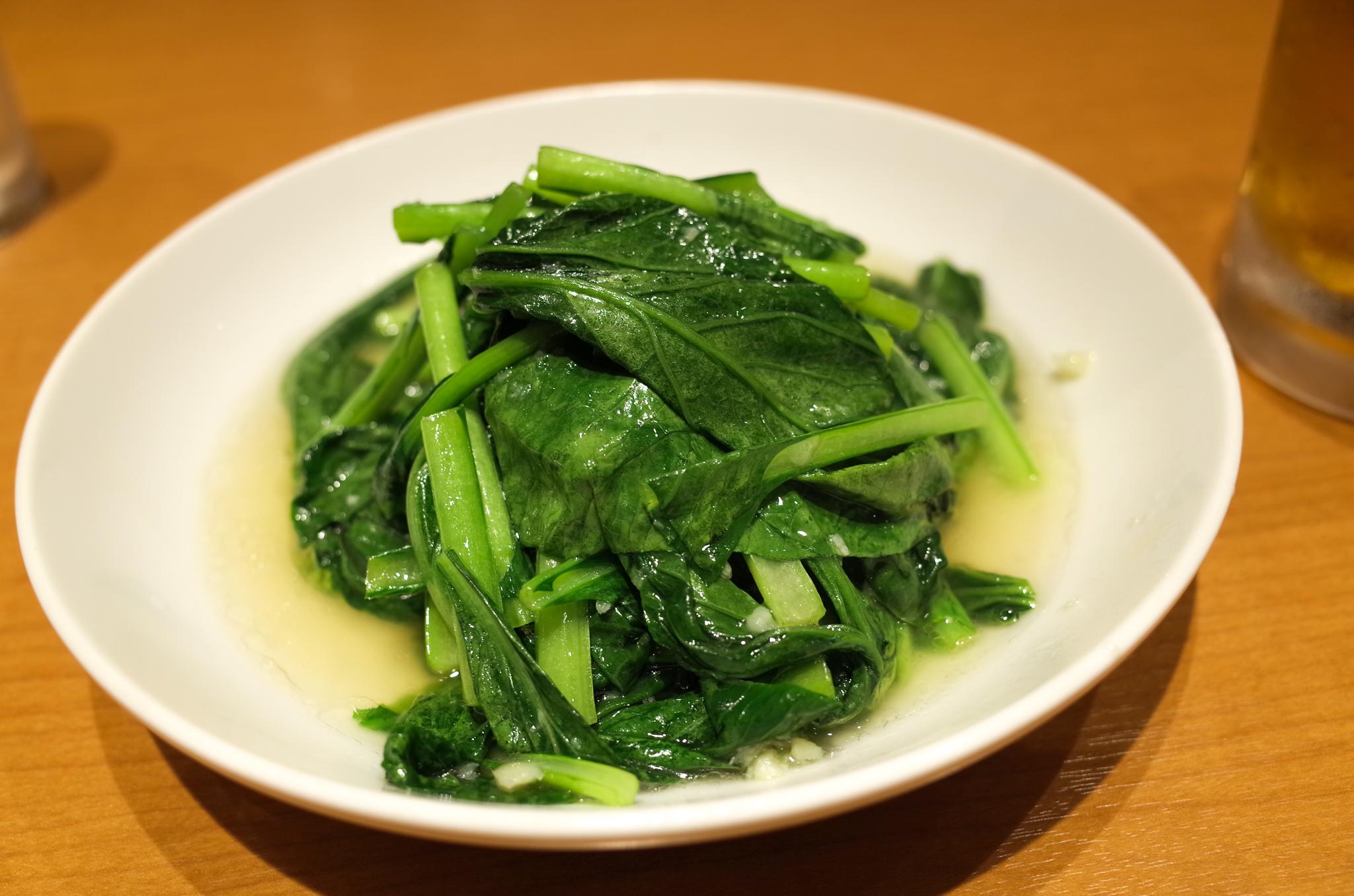 青菜炒めはどの店舗でもうまい