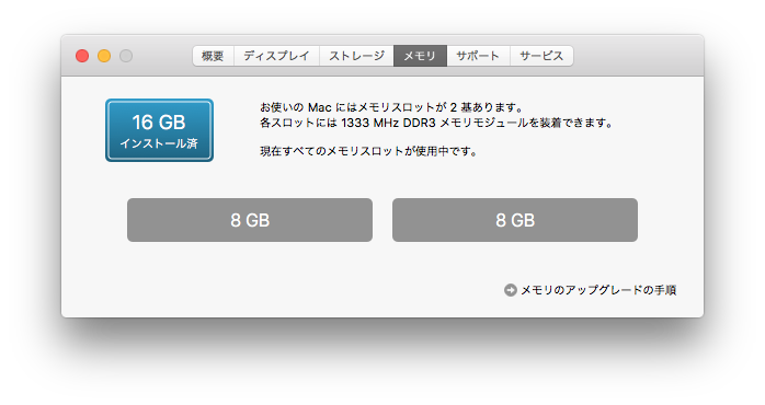調子に乗って8*2で16GBにしたった
